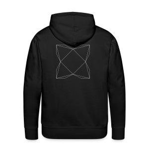 haxe logo outline - Men's Premium Hoodie
