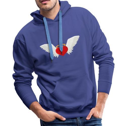 Winged heart - Angel wings - Guardian Angel - Men's Premium Hoodie