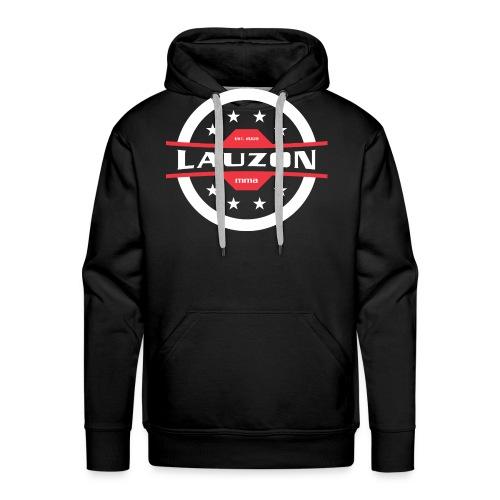 White on Black Lauzon MMA Logo w No Words - Men's Premium Hoodie
