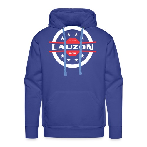 White on Black Lauzon MMA Logo w No Words - Men's Premium Hoodie