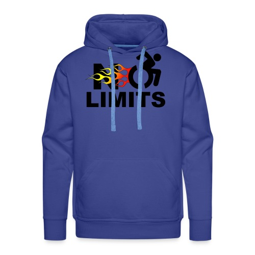 No limits for me with my wheelchair - Men's Premium Hoodie