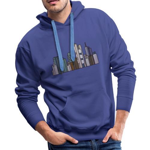 Frankfurt skyline - Men's Premium Hoodie