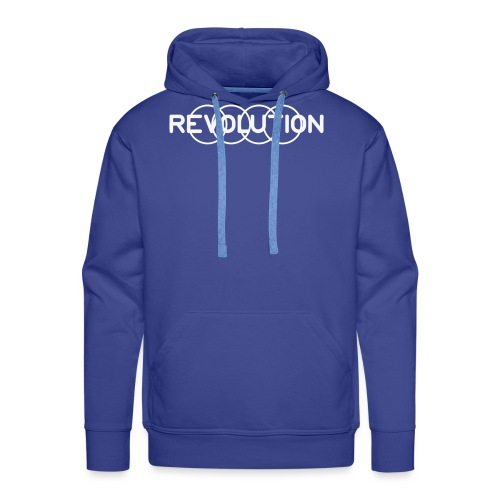 White Revolution Logo - Men's Premium Hoodie