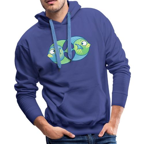 Tropical fishes remain in love despite conflicts - Men's Premium Hoodie