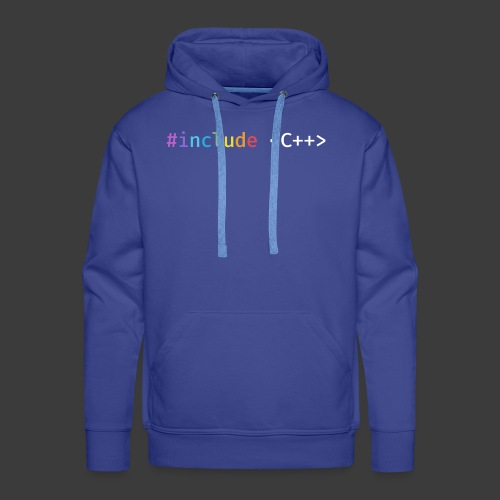 Rainbow Include C++ (Dark Background) - Men's Premium Hoodie