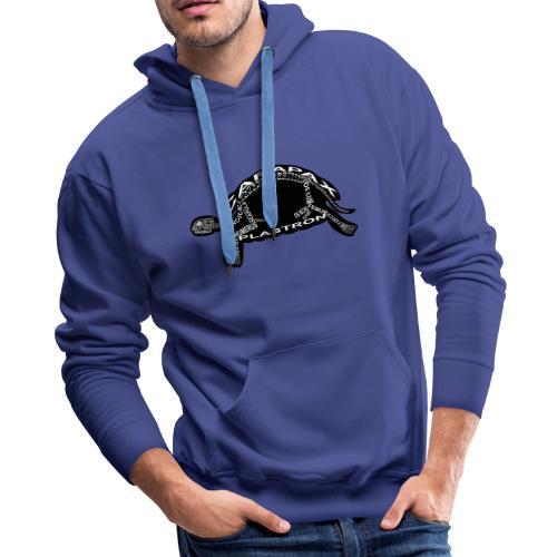 Skeleton Turtle - Men's Premium Hoodie
