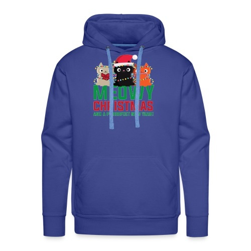 Meowy Christmas - Men's Premium Hoodie