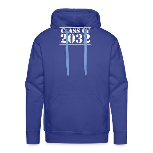 Class of 2032 Kindergarten Grad distressed logo - Men's Premium Hoodie