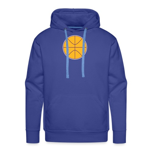 Basketball purple and gold - Men's Premium Hoodie