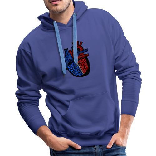 Skeleton Heart - Men's Premium Hoodie