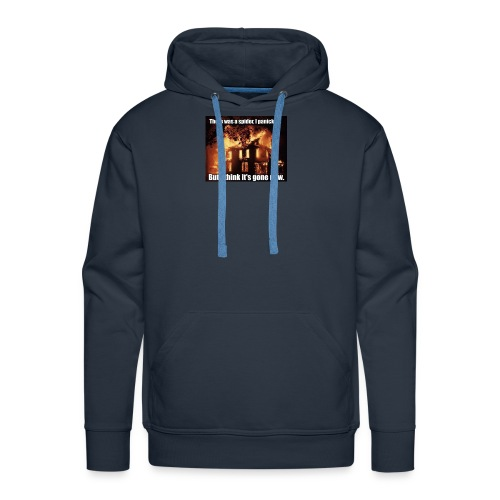 There was a spider - Men's Premium Hoodie