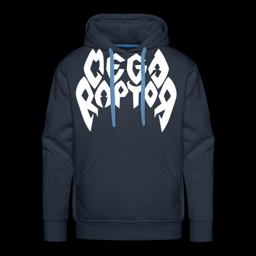 Megaraptor Logo White - Men's Premium Hoodie
