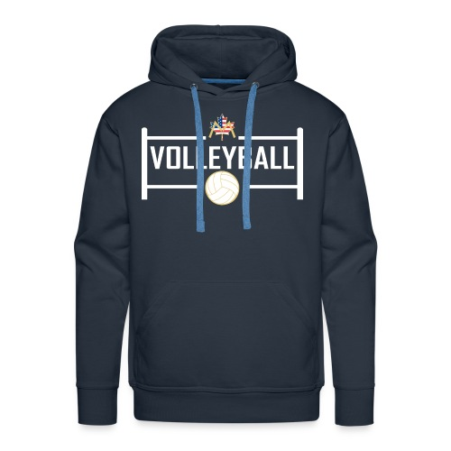 Block City Volleyball Design - Men's Premium Hoodie