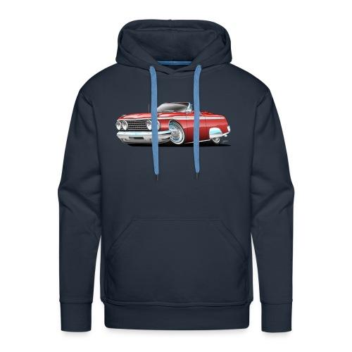 Sixties American Classic Car Convertible Cartoon - Men's Premium Hoodie