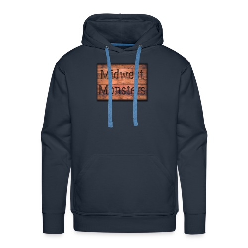 Midwest Monsters Wood Logo - Men's Premium Hoodie