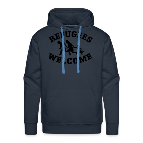 refugees welcome - Men's Premium Hoodie