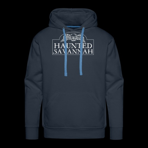 Haunted Savannah Tours Logo (White and Transparent - Men's Premium Hoodie