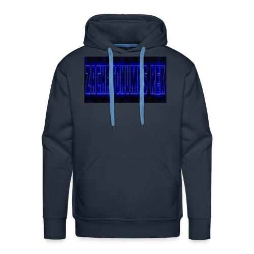 blue fire logo - Men's Premium Hoodie