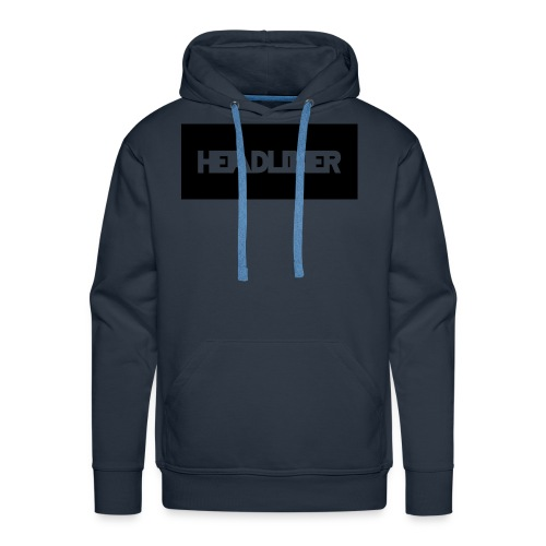 HEADLINER LOGO TRANSPARENT ON BLACK - Men's Premium Hoodie