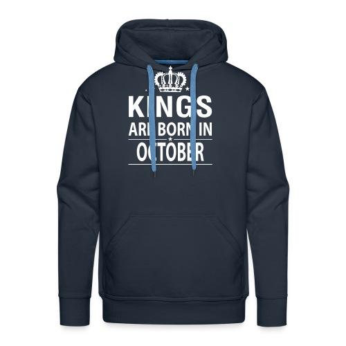 Kings Are Born In October - Men's Premium Hoodie