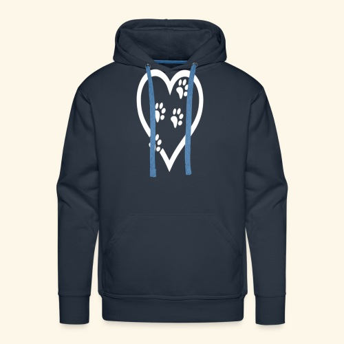 Cat lover Funny t shirt Cat Heart - Men's Premium Hoodie