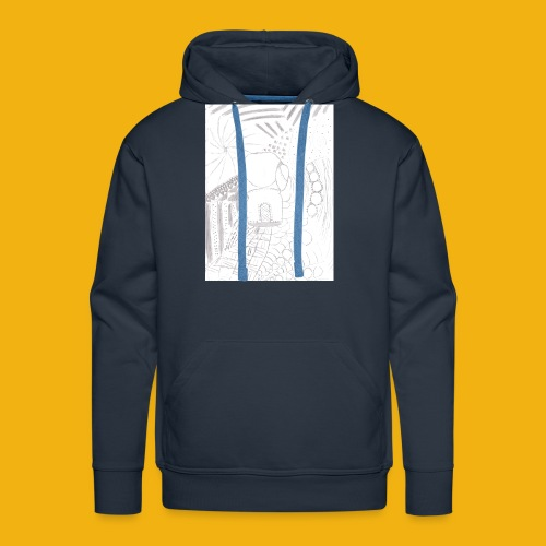 Messy Zentangle Boxing glove (TCOU) - Men's Premium Hoodie