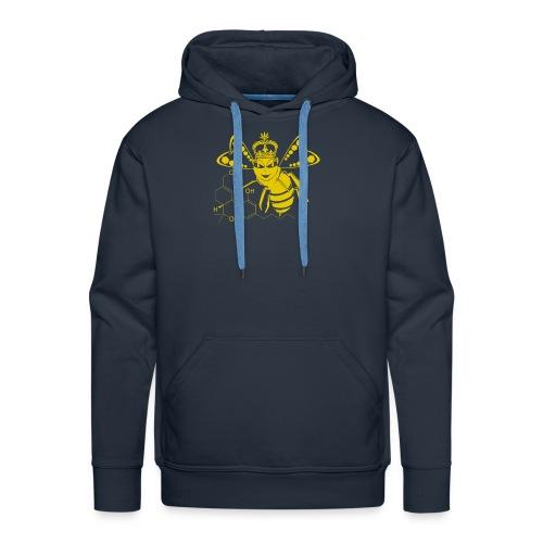 11HydroxyCompoud FemaleBee Shirt Gold Final 01 - Men's Premium Hoodie