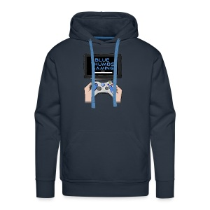 Blue Thumbs Gaming: Gamepad Logo - Men's Premium Hoodie