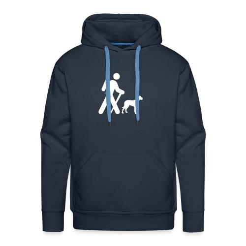Hiking Man & Dog - Men's Premium Hoodie