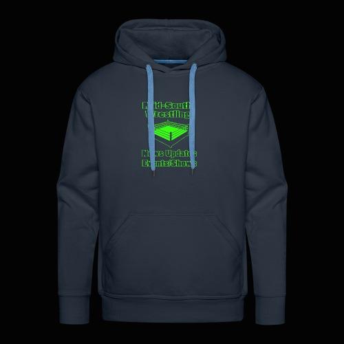 Mid-South Wrestling News Neon/Lime Green - Men's Premium Hoodie