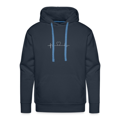 Heart Beat T-Shirt - Men's Premium Hoodie