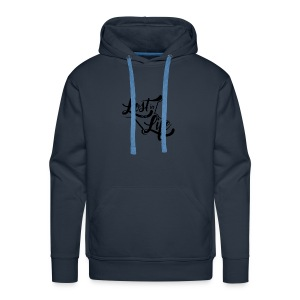 Lost in Life Black on Light logo small - Men's Premium Hoodie