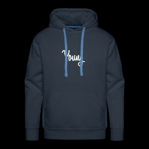Simple Young Shirt - White Logo - Men's Premium Hoodie