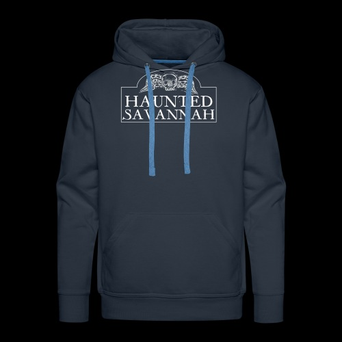 Haunted Savannah Tours Logo (White and Transparent - Men's Premium Hoodie