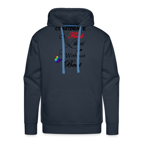 With or Without Beat SpilledPaint- Asphalt - Men's Premium Hoodie