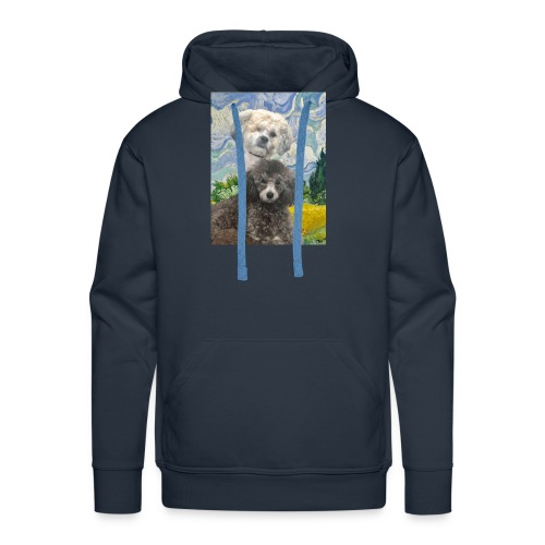 Morty and Wonton - Dogs of Modern Art - Men's Premium Hoodie
