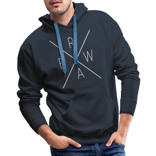 BRWA ShirtX White - Men's Premium Hoodie