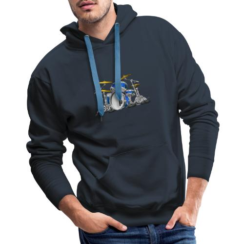 Drum Set Cartoon - Men's Premium Hoodie
