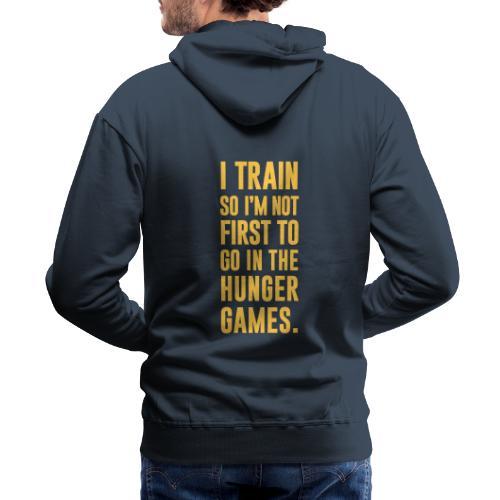 I Train Gym Motivation - Men's Premium Hoodie