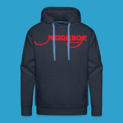 Hammond Red Font - Men's Premium Hoodie