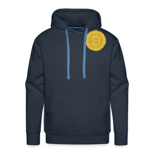 8 bit coin - Men's Premium Hoodie