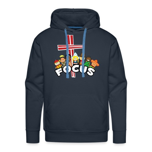 FOCUS logo front - Men's Premium Hoodie