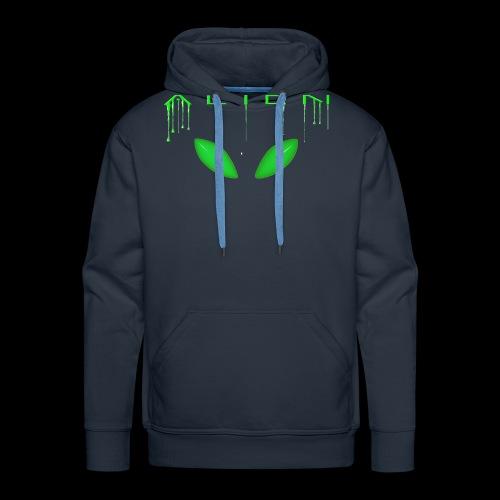Alien Dribble with ET eyes - Green - Men's Premium Hoodie