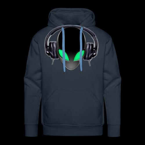 Alien Music Lover DJ (Simplified Fit All Design) - Men's Premium Hoodie