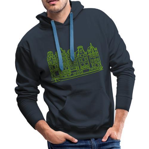 Amsterdam Canal houses - Men's Premium Hoodie