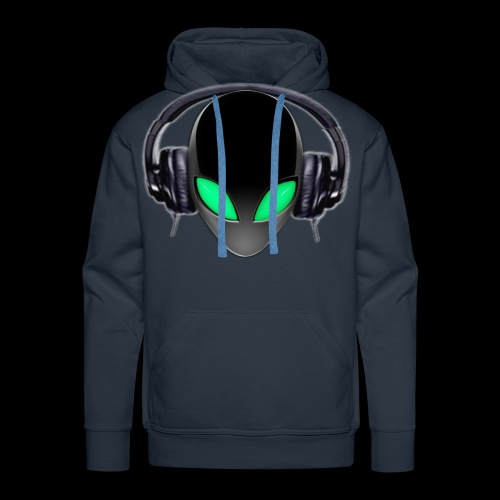 Alien Music Lover DJ (Simplified Fit All Design) - Men's Premium Hoodie