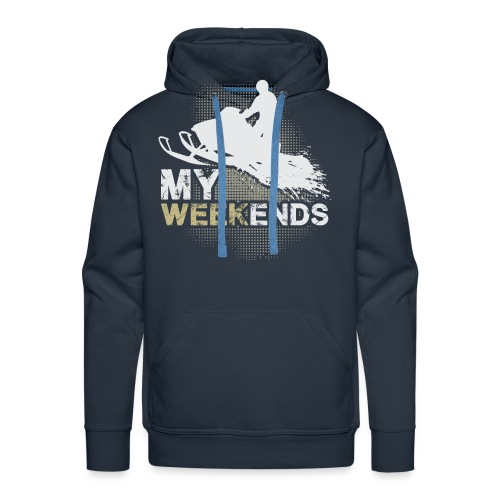 Snowmobile My Weekends - Men's Premium Hoodie