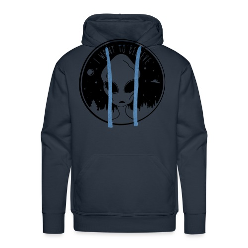 I Want To Believe - Men's Premium Hoodie