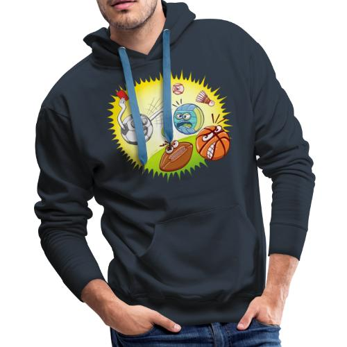 Soccer showing red card to other sports - Men's Premium Hoodie