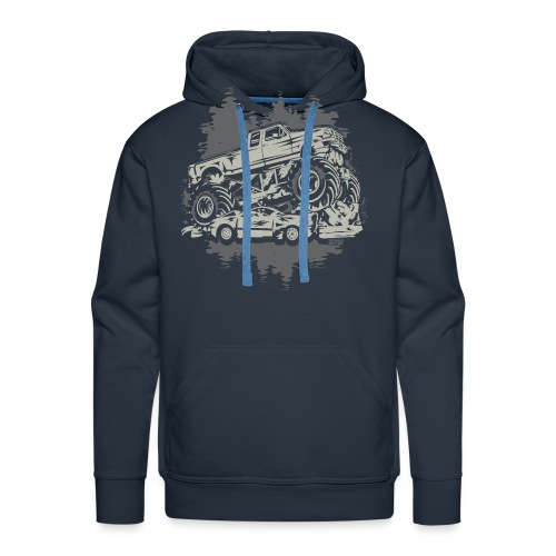 Monster Truck Grunge - Men's Premium Hoodie